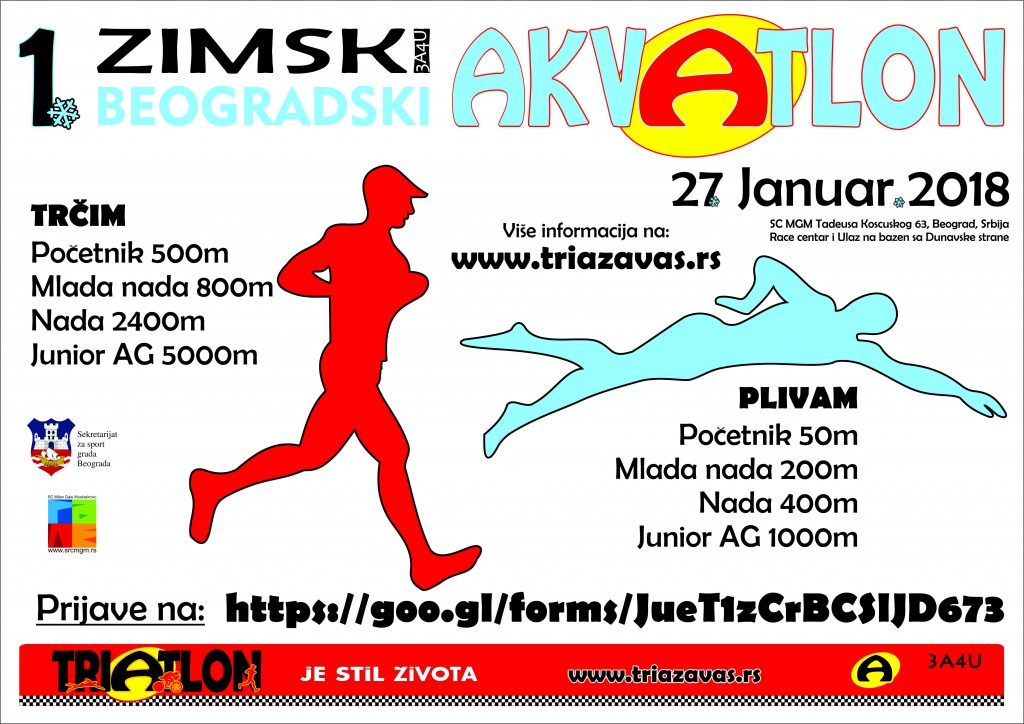 1.Zimski akvatlon 2017 poster